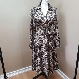 Ashley Stewart Animal Print Wrap Dress Size 18W